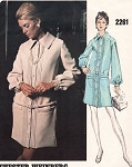 1970s Slim Drop Waist Shirt Dress Pattern Chester Weinberg VOGUE AMERICANA 2261 Vintage Sewing Pattern  Bust 34 FACTORY FOLDED
