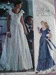 1970s ROMANTIC Party Evening Dress OSCAR dE La RENTA Pattern VOGUE AMERICANA 1043 Beautiful  Design Vintage Sewing Pattern