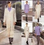 Vintage 90s Vogue Pattern 2382 Dress, Duster Coat, Top, Skirt and Pants Uncut FF