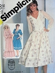 1980s  GUNNE SAX ROMANTIC DRESS or EVENING GOWN PATTERN SIMPLICITY PATTERNS 5490