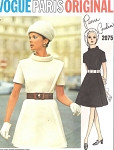 1960s ULTRA MOD Pierre Cardin Dress Pattern Vogue Paris Original 2075 Fantastic Design Bust 34 Vintage Sewing Pattern