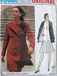 1970s UNGARO Drop Waist Dress Jacket Coat Pattern VOGUE PARIS ORIGINAL 2641  Lovely Pleated Mini or Regular Length Dress Size 10 Vintage Sewing Pattern FACTORY FOLDED