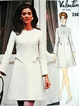 1960s VALENTINO Lovely Dress Pattern Vogue Couturier Design 2347  Bust 34 Vintage Sewing Pattern