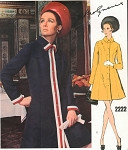 1960s MOLYNEUX Coat Dress Pattern Stylish Semi Fitted A Line Dress Vogue Paris Original 2222 Vintage Sewing Pattern Bust 32.5