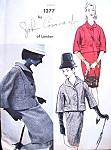 1960s JOHN CAVANAGH Suit Pattern Vogue Couturier Design 1277 Elegant Slim Skirt 2 Pc Suit  Bust 31 Vintage Sewing Pattern FACTORY FOLDED