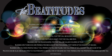 Church Banner featuring Modern Design with Beatitudes Theme