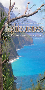 Church Banner featuring Paradise with Righteousness from Beatitudes Series