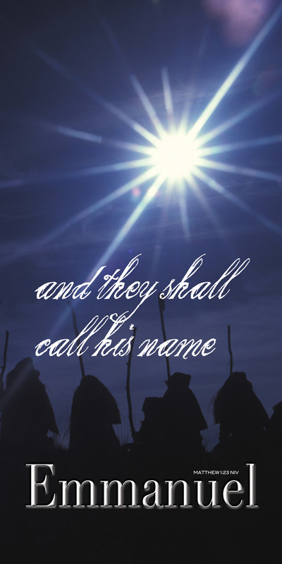 Church Banner featuring Shepherds and Star with Christmas Theme - CUSTOMIZE