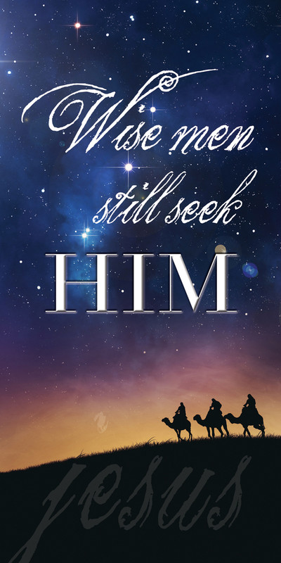 Church Banner featuring Three Wise Men with Christmas Theme