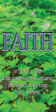 Church Banner featuring Mountain Flowers with Faith Theme