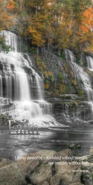Church Banner featuring Waterfall in Fall with Faith Theme