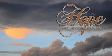 Church Banner featuring Clouds/Sky with Hope Theme