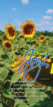 Church Banner featuring Field of Sunflowers with Joy Theme