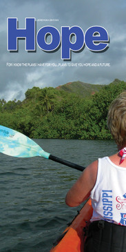 Church Banner featuring Kayaker with Hope Theme