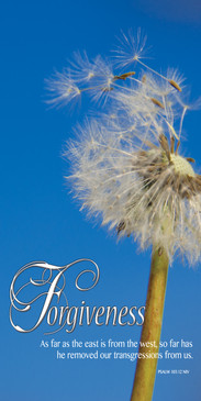 Church Banner featuring Dandelion with Forgiveness Theme