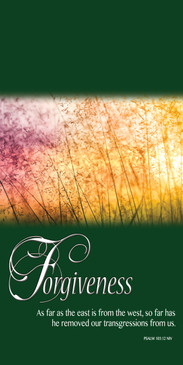 Church Banner featuring Summer Flowers with Forgiveness Theme