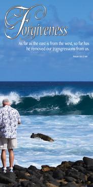 Church Banner featuring Man/Ocean Waves with Forgiveness Theme