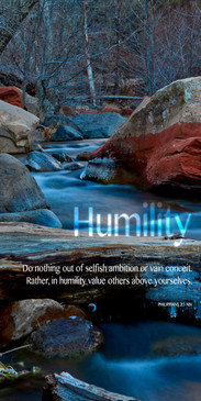 Church Banner featuring Frozen Brook with Humility Theme
