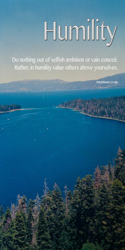 Church Banner featuring Lake Tahoe with Humility Theme