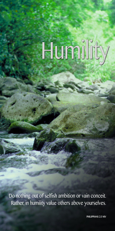 Church Banner featuring Bubbling Brook with Humility Theme