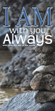 Church Banner featuring Cairn with I Am With You Always Theme