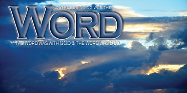 Church Banner featuring Sunlit Clouds with Word of God Theme