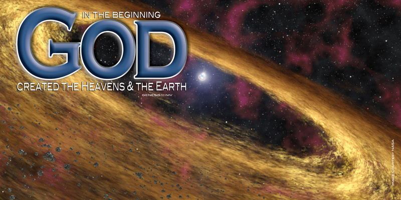 Church Banner featuring Deep Space with In The Beginning Theme