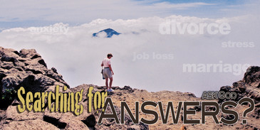 Church Banner featuring Hiker/Clouds/Mountaintop with Inspirational Theme