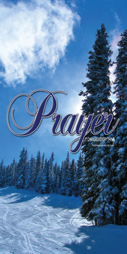 Church Banner featuring Colorado Ski Trail with Prayer Theme