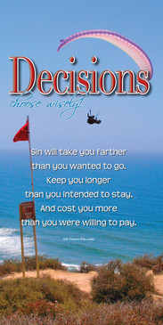 Church Banner featuring Hang Glider Over Pacific with Inspirational Message