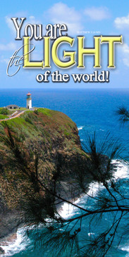 Church Banner featuring Kilauea Lighthouse with Inspirational Message