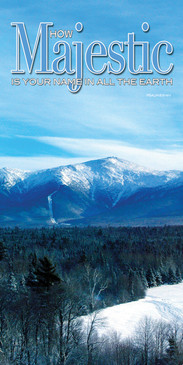 Church Banner featuring Mt. Washington View with Inspirational Theme