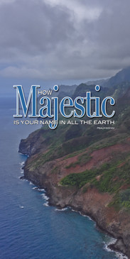 Church Banner featuring Napali Coastline with Inspirational Theme