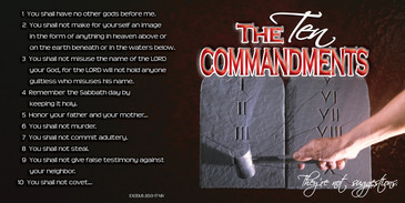 Church Banner featuring Stone Tablets with the Ten Commandments