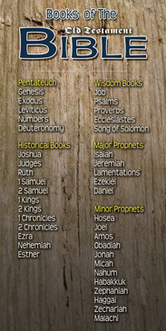Church Banner featuring Wood Background with the Old Testament Books of Bible