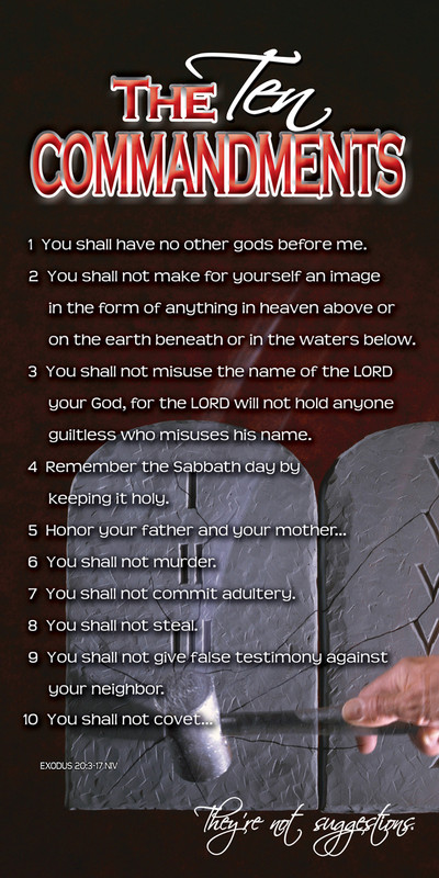 Church Banner featuring Ten Commandments/Stone Tablets