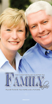 Church Banner featuring Mature Couple with Family Values Theme