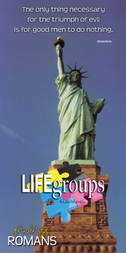 Church Banner featuring Statue of Liberty with Life Groups Theme