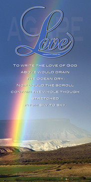Church Banner featuring Rainbow with Love of God Theme