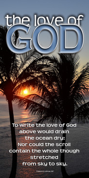 Church Banner featuring Tropical Sunset with Love of God Theme
