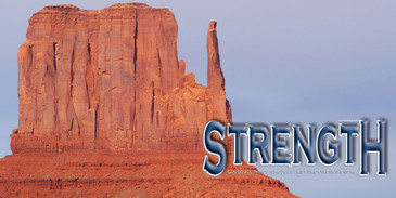 Church Banner featuring Monument Valley with Motivational Theme