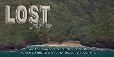 Church Banner featuring Kauai/Napali Coastline with Motivational Theme