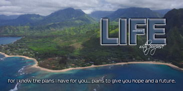 Church Banner featuring Aerial View of Kauai with Motivational Theme