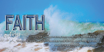 Church Banner featuring Ocean Waves with Faith Theme