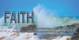 Church Banner featuring Ocean Waves with Faith Theme