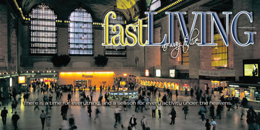 Church Banner featuring Grand Central Station with Motivational Theme