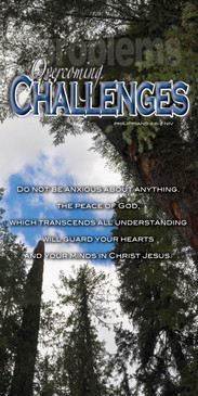 Church Banner featuring Tall Trees with Motivational Theme