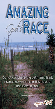 Church Banner featuring Beach Trail and Ocean with Motivational Theme