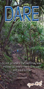 Church Banner featuring Tropical Hiking Trail with Motivational Theme
