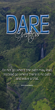 Church Banner featuring Jurassic Park Waterfall on Kauai with Motivation Theme